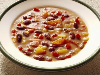 Bean and potatoe soup.