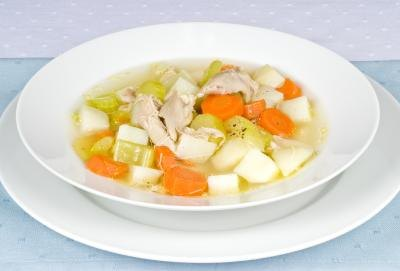 Chicken soup is high in collagen.