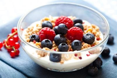 Cereal and berries