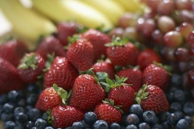 Strawberries have a high amount of vitamin C.