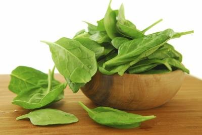 Spinach is a rich source of iron.