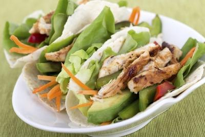 Avocado and chicken dish