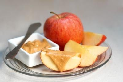 Savor an afternoon snack of apples and nut butter.