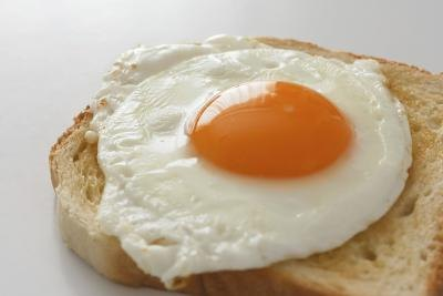 Eggs contain a lot of cholesterol.