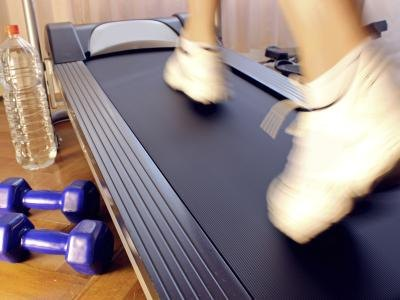 A folding treadmill can be stored in your closet when not in use.