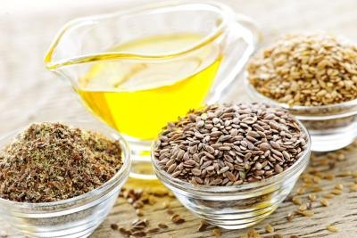 Flaxseed contains omega-3 fatty acids.