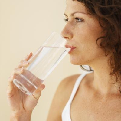 Drink at least 64 ounces of water each day.