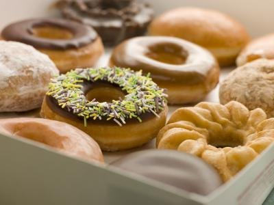 One doughnut contains 8% of your daily cholesterol value.