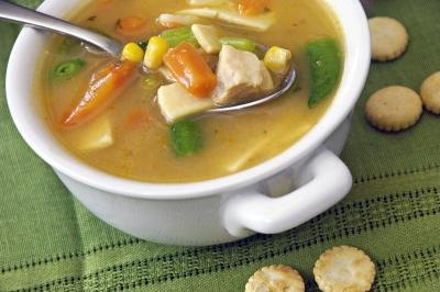 Soups can aid in hydration.