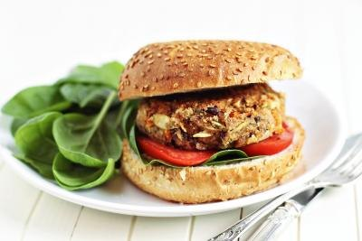 A veggie burger can provide extra potassium.