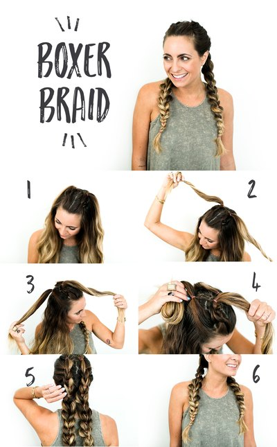 A snap shot of creating your own boxer braid.