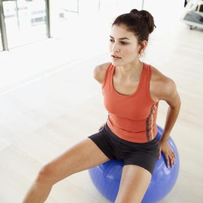 Fitness Ball Rider Exercise 107
