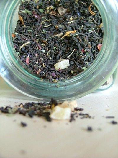 Tea leaves are rich in polyphenols.