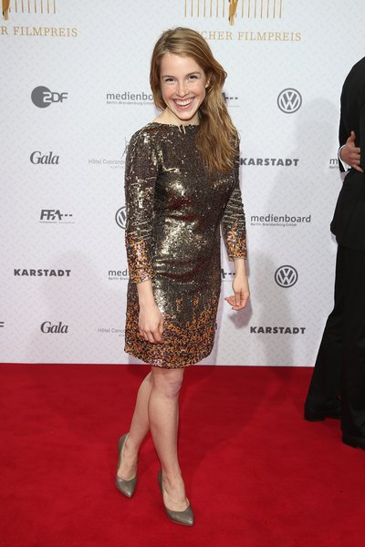 Josephine Vilsmaier's long sleeved, sparkly dress is perfect for chilly winter formal nights.