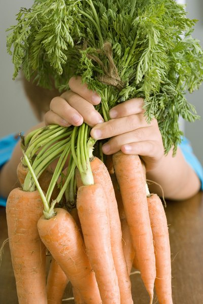 Carrots act as an insoluble fiber that assists in digestion.