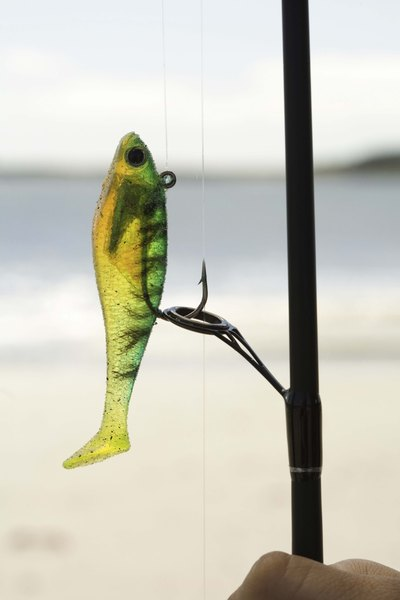 After buying a soft plastic fish, you can make your own shad by inserting a hook.