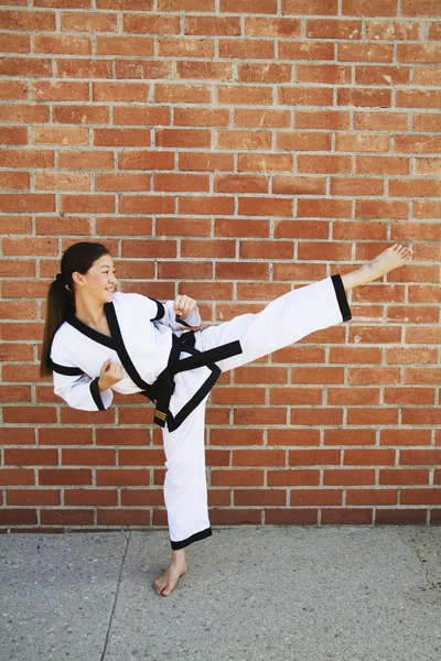 You have to be flexibile to get a black belt in Taekwondo.
