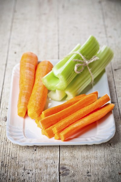 Snacking on carrots and celery will help ward off hunger pangs.