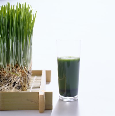 Wheatgrass and wheat grass juice.