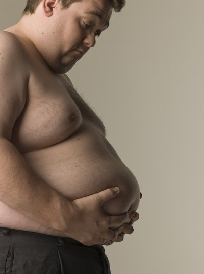Men carry excess fat in the abdominal cavity.