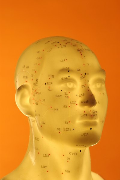 An acupuncture point at the jawbone is used to treat toothache.