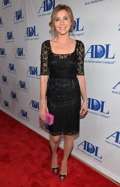 Sarah Chalke's lace dress exudes romance in a chic and sophisticated way.