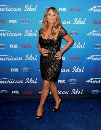 Mariah Carey's lacey little black dress is sexy and sophisticated.