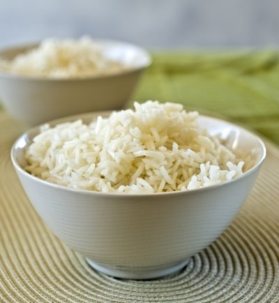 Two bowls of basmati rice