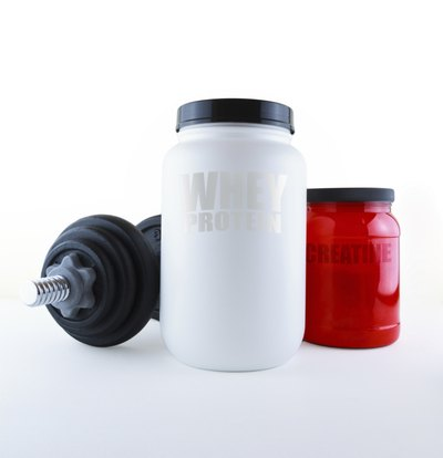 Whey protein and Creatine.