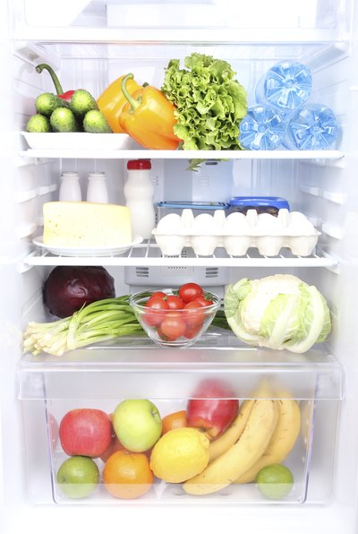 Fridge with healthy foods