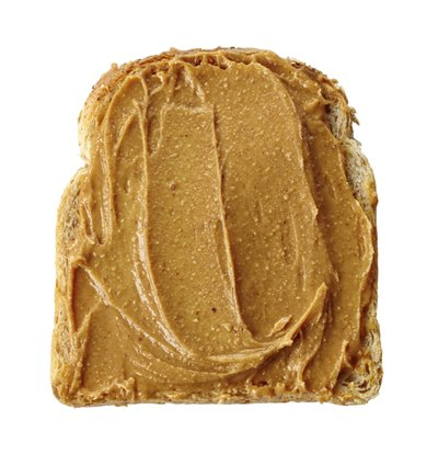 Peanut butter toast is a good combination of carbohydrates and protein.