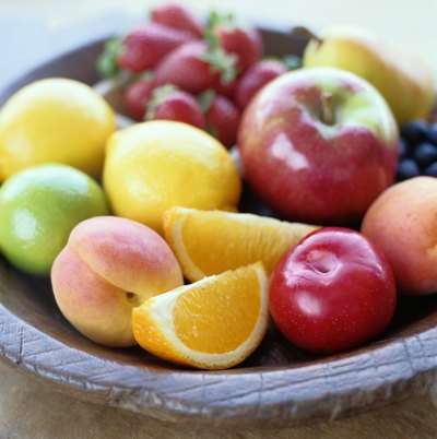 Fresh fruits.
