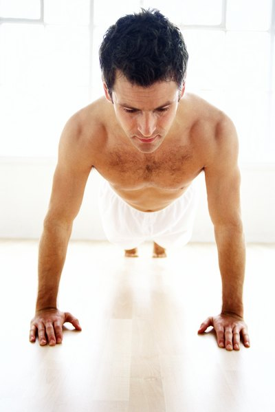 Do not arch your back or sag your body toward the floor when doing the Plank.