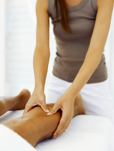 Pressure points in the legs promote circulation and pain relief.