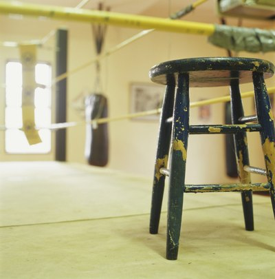 Boxing ring, close-up