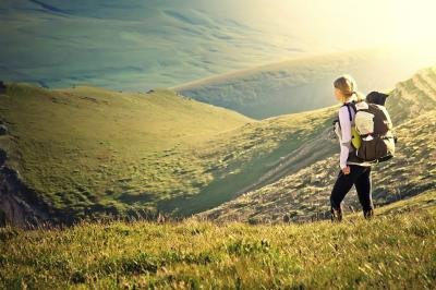 Hills will increase the number of calories burned in a walk.