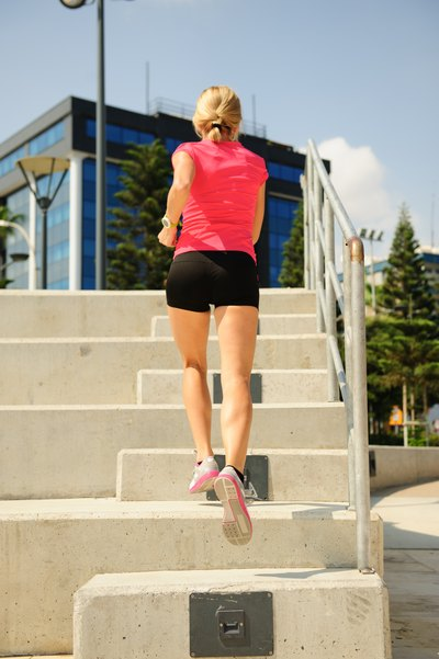 If you don't have access to a gym, try running up stairs for a quick and effective HIIT workout..