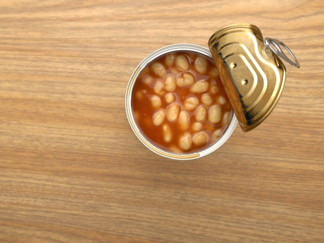 Canned baked beans are a processed food that could be considered healthy
