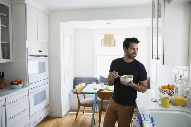 "Man enjoying cereal (a.k.a ""The evil carbs"")"