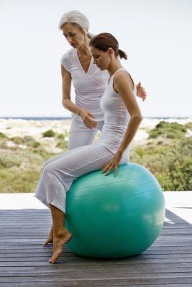 Exercise Ball Work for Lower Back Pain   LIVESTRONG.COM