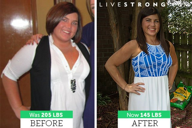Melissa lost 60 pounds and dropped 4 sizes.