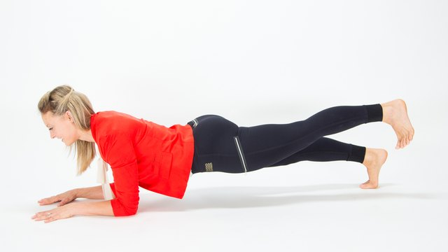 Add in some booty work with the leg-lift plank.