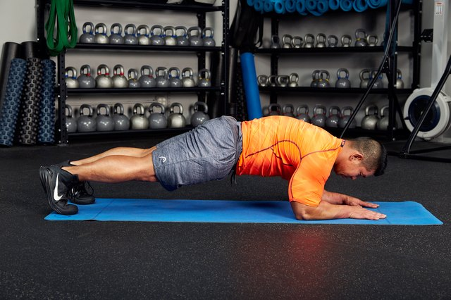 Planks are an isometric exercise that target your entire core.