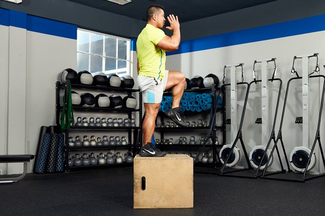 Step-ups build muscle that translate to everyday activities.