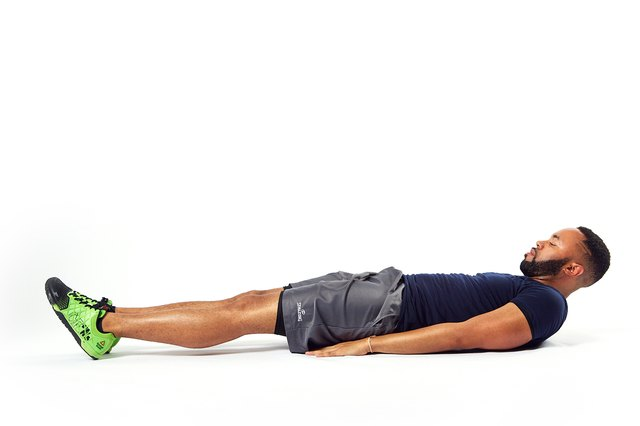 If this is too much, lower your head and concentrate on your abs.