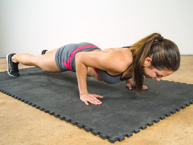Push-ups are a good test of arm and shoulder strength.