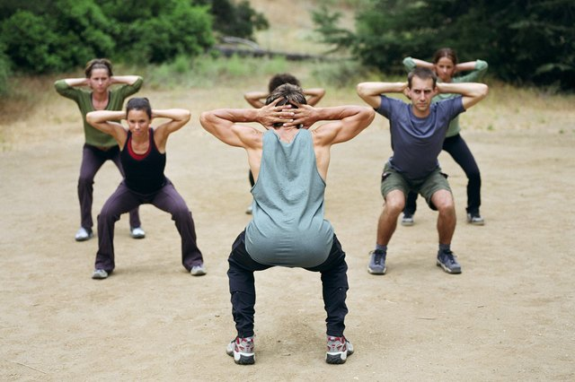 Squats help burn body fat by the mere fact that hundreds of muscles are working.