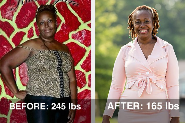 Marilyn lost 80 pounds and dropped 3 sizes!