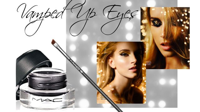 Use a gel eyeliner for dramatic, vamped-up eyes.