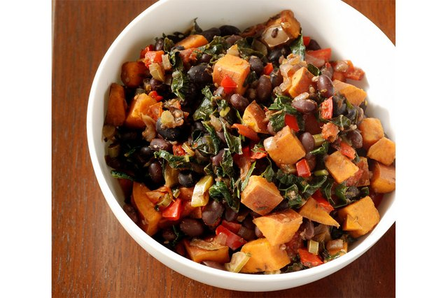 Black bean and vegetable stew